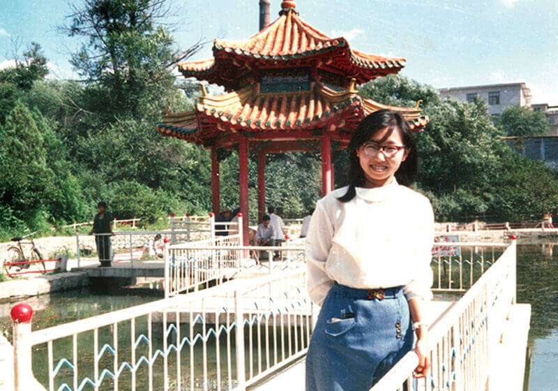 Zang Jun just completed her undergraduate degree, Fushun, North East China, summer 1986