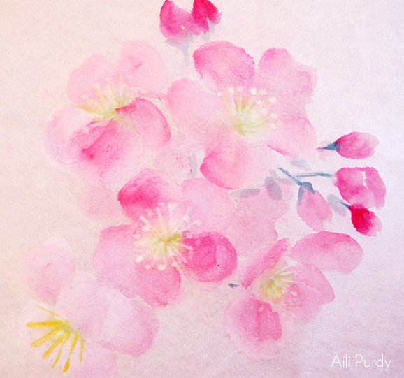 event image for Cherry Blossom Ink Painting